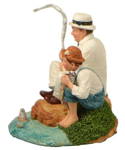 Figurines | Norman Rockwell Figurine Fishing The Saturday Evening Post