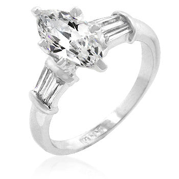 Jewelry| Cubic Zirconia Marquis Ring