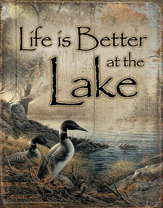 Tin Sign | Life Is Better at the Lake Metal Tin Sign