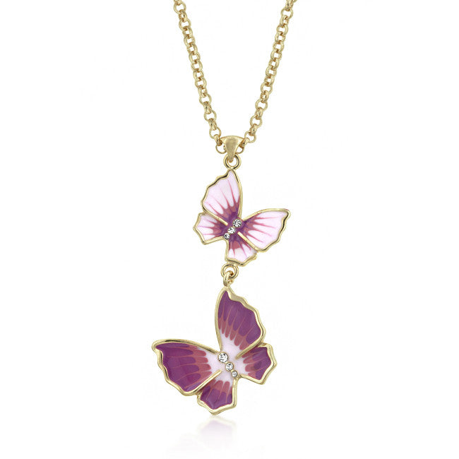 Jewelry| Butterfly 3-Stone Necklace