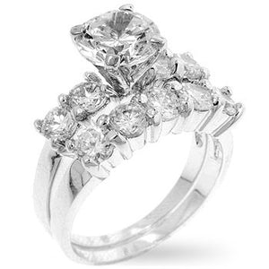 Jewelry| Cubic Zirconia Wedding Rings Set