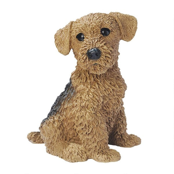 Figurines | Airedale Puppy Dog Statue