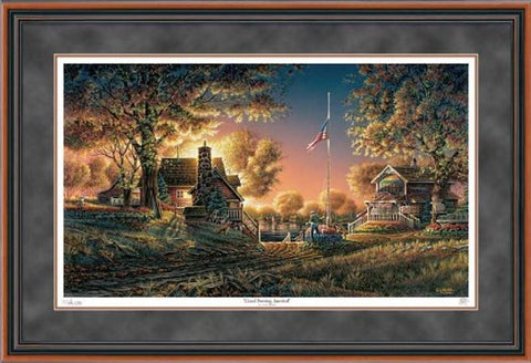 Art | Terry Redlin Store Good Evening America Framed Art Print