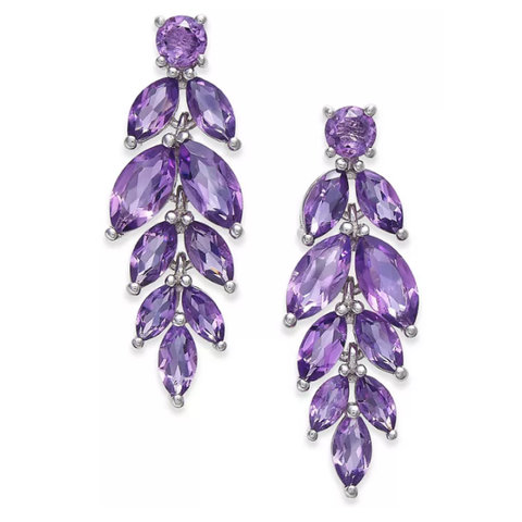 Amethyst Vine Drop Earrings (5-3/4 ct. t.w.) in Sterling Silver