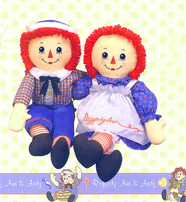 Dollsite | Raggedy Ann or Andy Doll 25 Inches