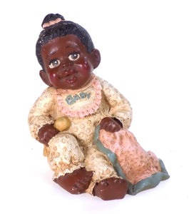 Collectibles | Black Americana Baby Sitting with Blanket Figurine