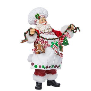 Holiday | Christmas  Santa Baker Figurine