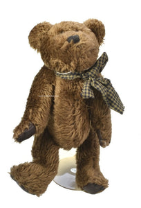 Boyds Bears | Baxter B Bean Brown Check Bow 5151