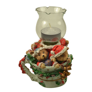 Holiday | Christmas Bears Candle Holder Garland and Bells