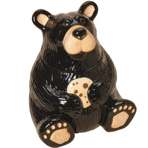 Home Decor | Bear With Cookie Ceramic Cookie Jar