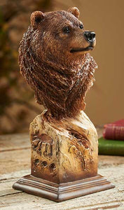 Figurines | Grizzly Bear Bust Sculpture Mill Creek Studio