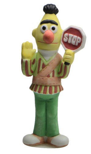 Collectibles | Sesame Street Bert As Crossing Guard Figurine