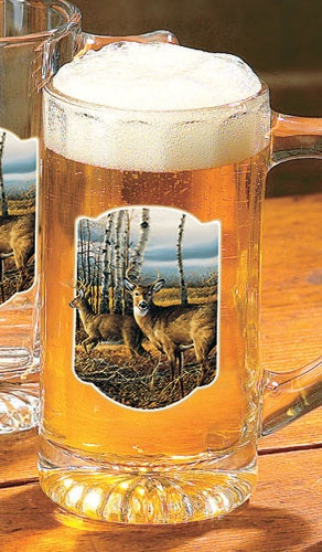 "Home Decor | Deer Beer Stein Glasses ""The Birchline"" by Terry Redlin"