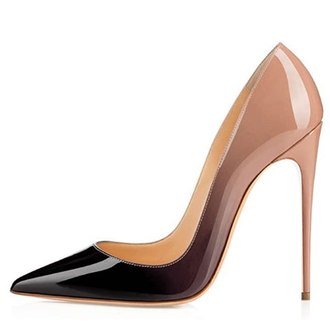 Women's Classic Pointed Toe Pumps High Heel Stilettos Slip On Black-Brown Sexy Dress Shoes