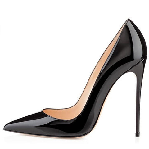 Women's Classic Pointed Toe Pumps High Heel Stilettos Slip On Black Sexy Dress Shoes