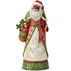 Enesco Jim Shore Heartwood Creek Santa with Winter Scene Figurine
