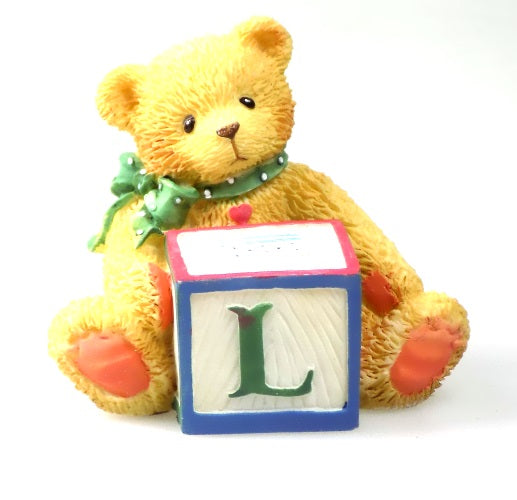Collectibles | Cherished Teddies Block Figurine Letter L