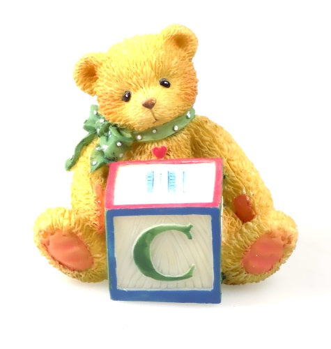 Collectibles | Cherished Teddies Block Figurine Letter C