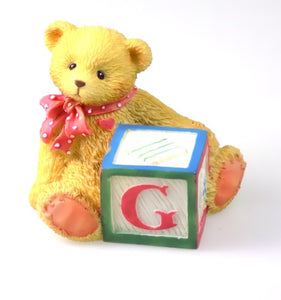 Collectibles | Cherished Teddies Block Figurine Letter G