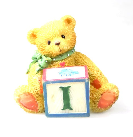 Collectibles | Cherished Teddies Block Figurine Letter I