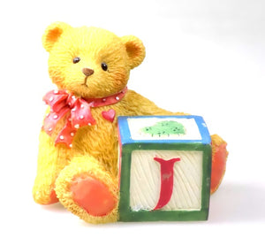 Collectibles | Cherished Teddies Block Figurine Letter J