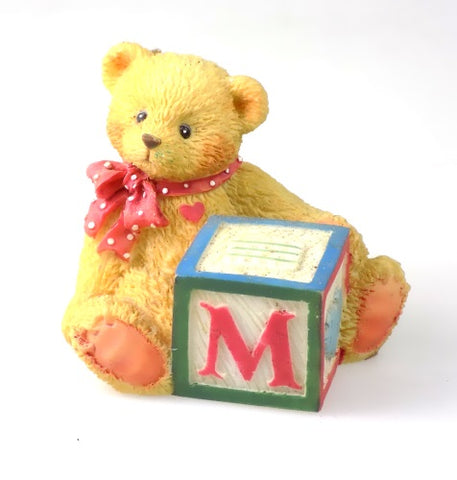 Collectibles | Cherished Teddies Block Figurine Letter M