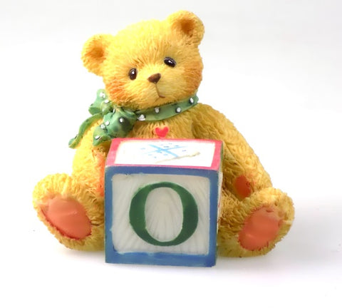 Collectibles | Cherished Teddies Block Figurine Letter O