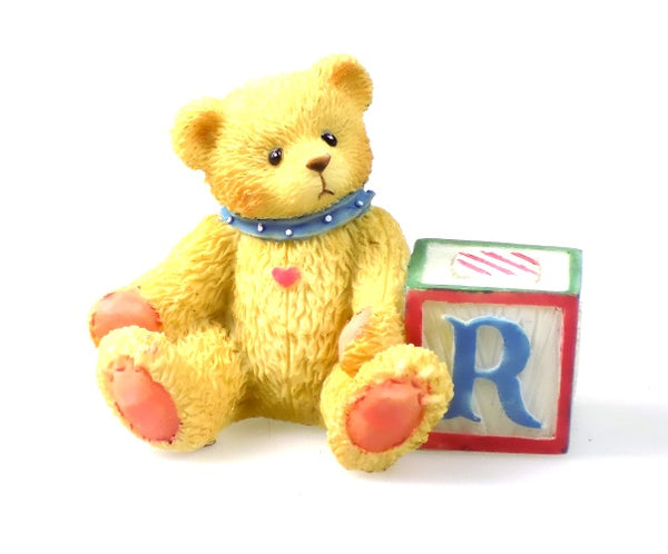 Collectibles | Cherished Teddies Block Figurine Letter R