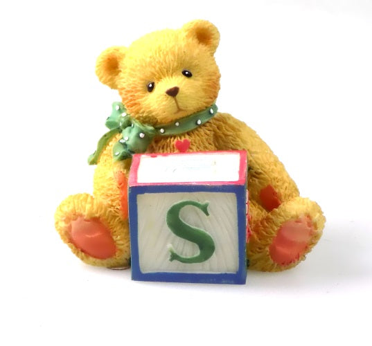 Collectibles | Cherished Teddies Block Figurine Letter S