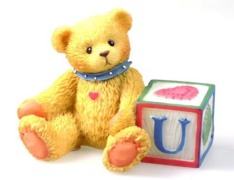 Collectibles | Cherished Teddies Block Figurine Letter U