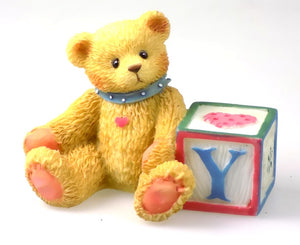 Collectibles | Cherished Teddies Block Figurine Letter Y