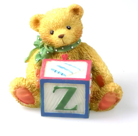 Collectibles | Cherished Teddies Block Figurine Letter Z