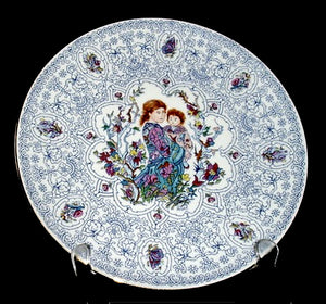 Collector Plate | Blue Trellis by Edna Hibel
