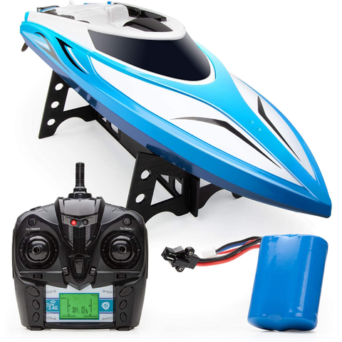 Velocity RC Boat - H102 RC Boat for Adults and Kids for Pools and Lakes, 20+ mph Speed, 4 Channel 2.4GHZ Remote Control and Durable