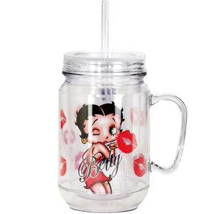 Collectibles | Betty Boop Kiss Mason Jar