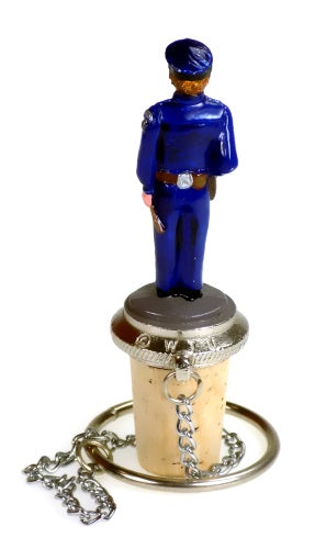 Collectibles | Policeman Cork Bottle Stopper Home Decor