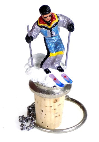 Collectibles | Skier Cork Bottle Stopper Home Decor