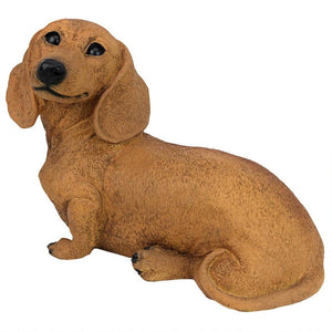 Brown Dachshund Puppy Dog Statue Castagna Dog Figurine