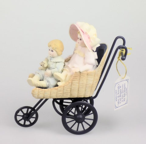 Figurines | Jan Hagara May and Joseph's Cart Buggy II Porcelain Figurine