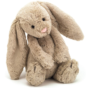 Bashful Beige Bunny Stuffed Animal, Medium, 12 inches Perfect Easter Gift