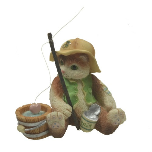 Collectibles | Calico Kittens I'm Hooked On You Fishing Figurine
