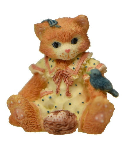 Collectibles | Calico Kittens Set of 3 Mini Lamb, Bird, April Showers, Figurine