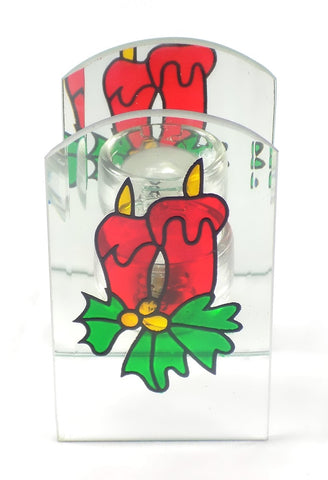 Holiday | Christmas Poinsettia Candle Holder tea light