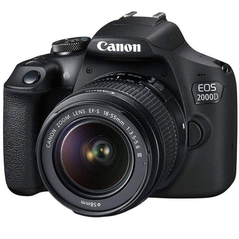 Canon EOS 2000D/Rebel T7 and EF-S 18-55mm f/3.5-5.6 III Lens