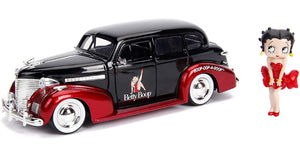Shop today for a Betty Boop Collectibles.  Shown is Betty Boop figure with a 1939 Chevy Deluxe die-cast car.  Available at One Great Shop.