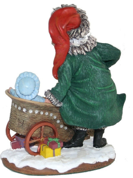 Holiday | Christmas Santa Claus Figurine Cart O' Plenty