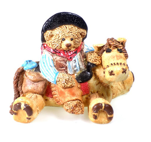 Figurine | Cast Art Cowboy Bear