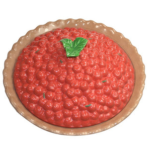 Figurines | Ceramic Cherry Pie Plate Cover