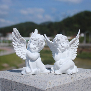 Set of 2 Cherubs Angels Figurine Adorable Angel Sculpture