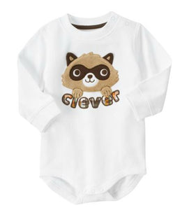 Baby Clothes | Gymboree Raccoon Applique One Piece Bodysuit  for Baby Boy